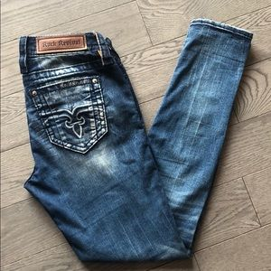 Rock Revival moon skinny Jeans Size 27